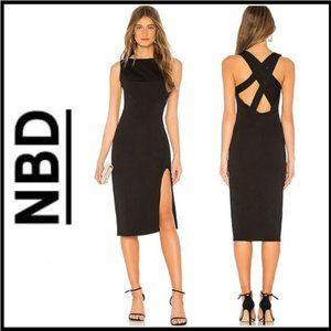 NWT NBD Zeke Midi Dress in Black S